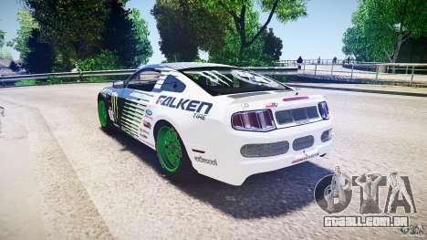 Ford Mustang GT Falken Tire v2.0 para GTA 4 traseira esquerda vista
