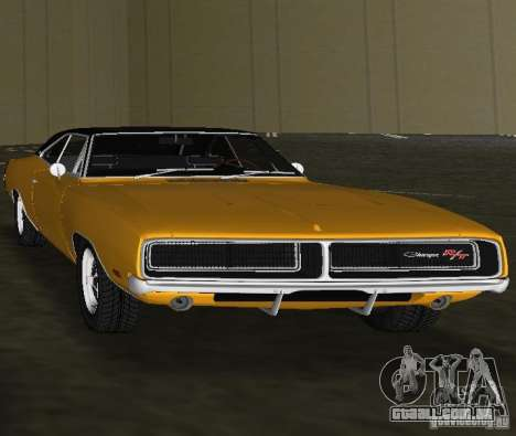 Dodge Charger RT 1969 para GTA Vice City vista direita