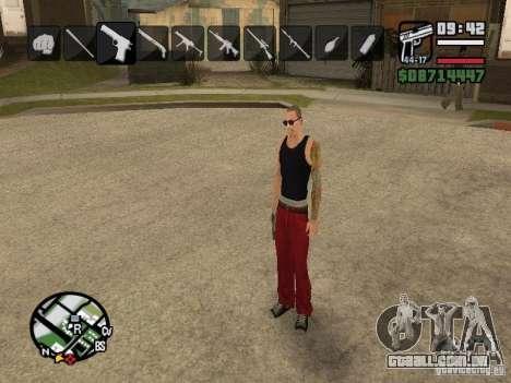 Ícones quando mudar de armas para GTA San Andreas por diante tela