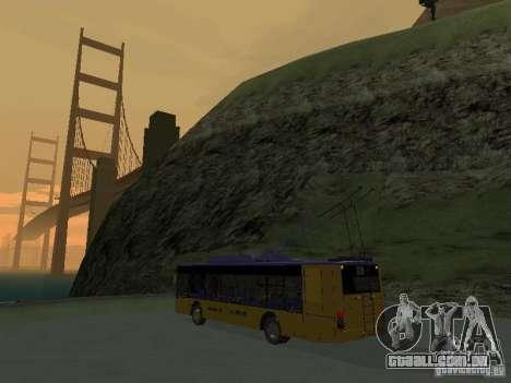 Trólebus LAZ e-183 para GTA San Andreas vista traseira