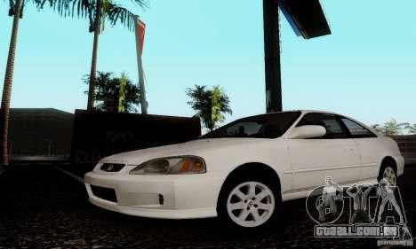 Honda Civic 1999 Si Coupe para GTA San Andreas traseira esquerda vista