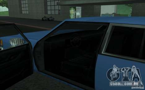 Civilian Police Car LV para GTA San Andreas vista direita