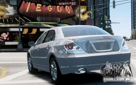 Acura RL 2006 para GTA 4 vista direita