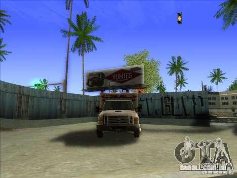 Ford E-350 Ambulance para GTA San Andreas vista interior