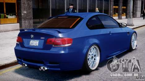 BMW M3 Hamann E92 para GTA 4 vista inferior