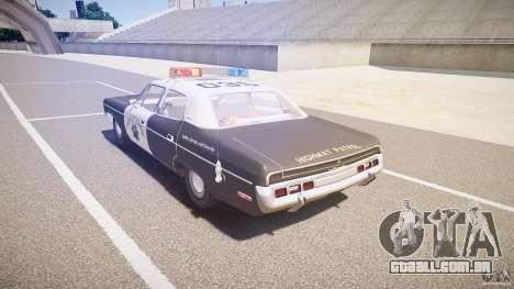 AMC Matador CHP [ELS] para GTA 4 traseira esquerda vista