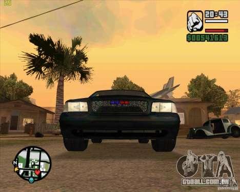 Ford Crown Victoria FBI para GTA San Andreas esquerda vista