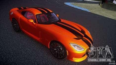 Dodge Viper GTS 2013 v1.0 para GTA 4 traseira esquerda vista