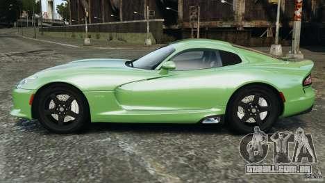 SRT Viper GTS 2013 para GTA 4 esquerda vista