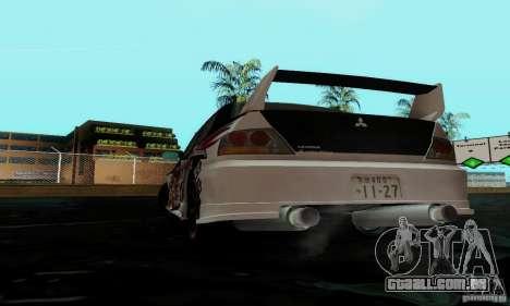 Mitsubishi Lancer Evolution IX para vista lateral GTA San Andreas