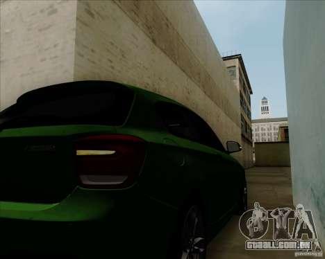 BMW M135i V1.0 2013 para GTA San Andreas vista superior