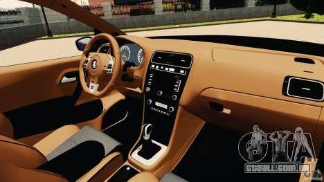 Volkswagen Polo v2.0 para GTA 4 vista de volta