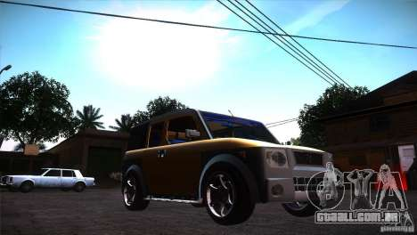 Honda Element LX para GTA San Andreas vista traseira