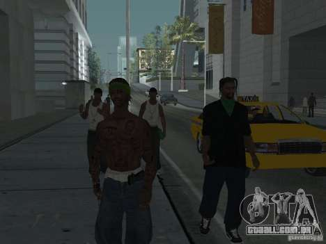 Substituir todos os skins Grove Street famílias para GTA San Andreas sexta tela