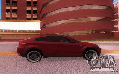 BMW X6 Tuning para GTA San Andreas vista direita