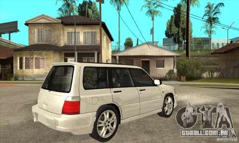 Subaru Forester para GTA San Andreas vista direita