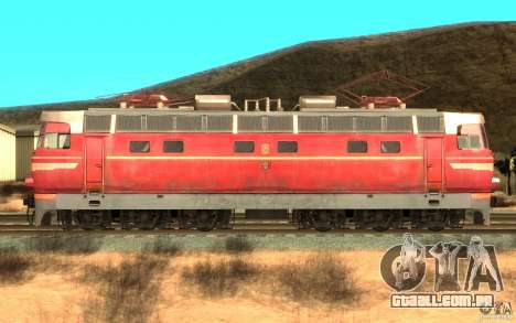 Lokomotiv ChS4-146 para GTA San Andreas esquerda vista
