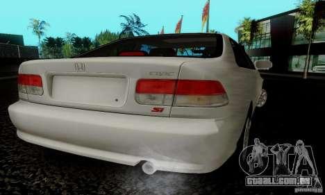 Honda Civic 1999 Si Coupe para GTA San Andreas esquerda vista