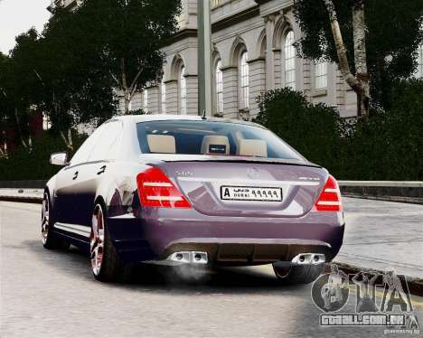 Mercedes-Benz S65 AMG 2010 Final para GTA 4 vista de volta