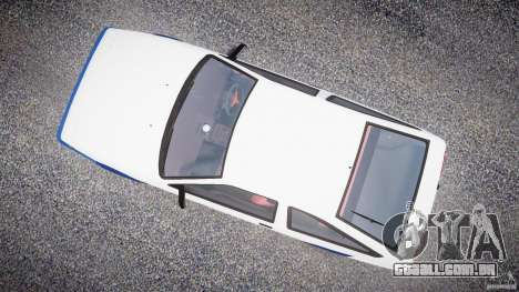 Toyota Trueno AE86 Initial D para GTA 4 vista direita