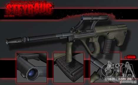 SteyrAug para GTA San Andreas segunda tela