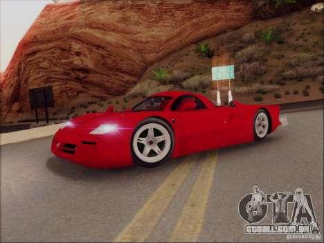 Nissan R390 Road Car v1.0 para GTA San Andreas esquerda vista