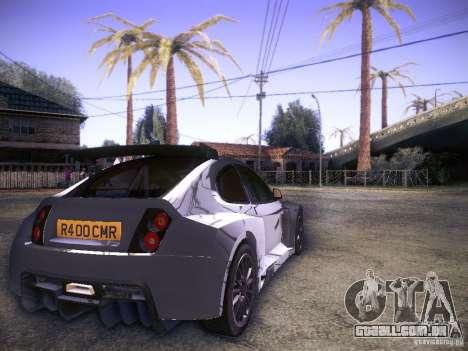 Colin McRae R4 para GTA San Andreas traseira esquerda vista