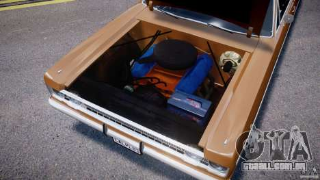 Plymouth Fury III Coupe 1969 para GTA 4 vista interior