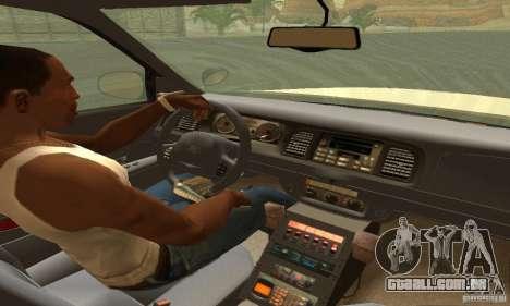 Ford Crown Victoria Washington Police para GTA San Andreas traseira esquerda vista