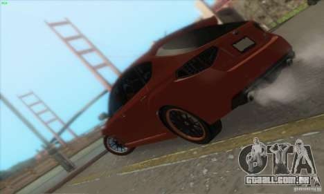 Subaru Impreza WRX STi para GTA San Andreas vista inferior
