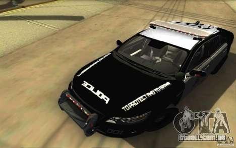 Ford Taurus 2011 LAPD Police para GTA San Andreas vista superior