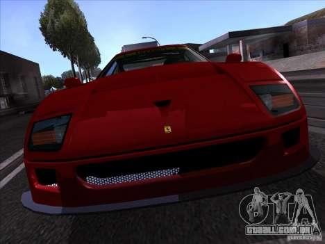Ferrari F40 GTE LM para GTA San Andreas vista direita
