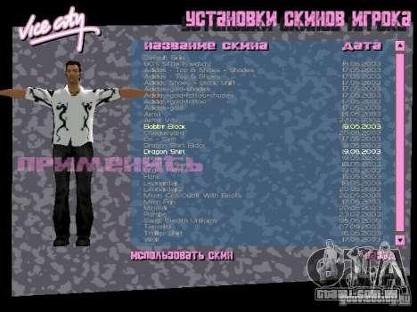 Pack de skins para o Tommy para GTA Vice City nono tela