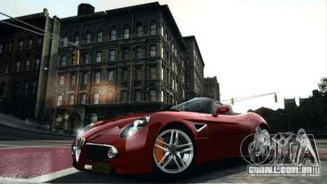 Alfa Romeo 8C Spyder para GTA 4 esquerda vista