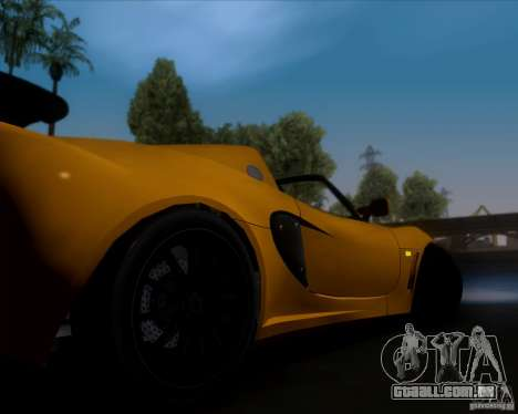 Lotus Exige para GTA San Andreas vista inferior