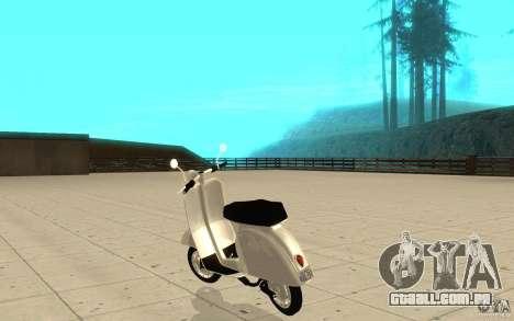 GTAIV EFLC Faggio Classic para GTA San Andreas traseira esquerda vista
