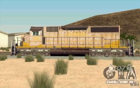 Clinchfield SD40 (Yellow & Grey) para GTA San Andreas esquerda vista