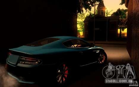 Aston Martin Virage V1.0 para GTA San Andreas vista traseira