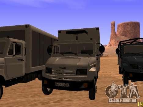 ZIL 5301 Goby para GTA San Andreas traseira esquerda vista