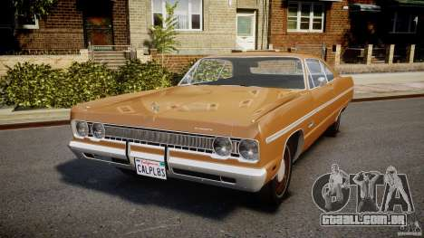 Plymouth Fury III Coupe 1969 para GTA 4