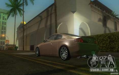 Infiniti G35 - Stock para GTA San Andreas traseira esquerda vista