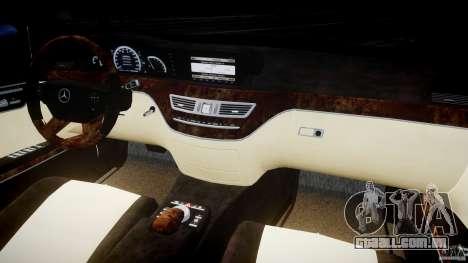 Mercedes-Benz S600 Guard Pullman 2008 para GTA 4 vista de volta