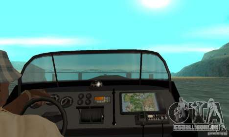 GTAIV Dinghy para GTA San Andreas vista traseira