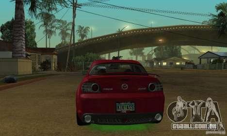 As luzes de neon verdes para GTA San Andreas