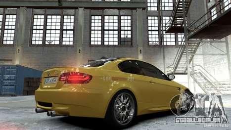 BMW M3 E92 2008 para GTA 4 esquerda vista
