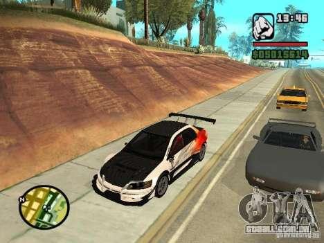 Mitsubishi Lancer Evo IX SpeedHunters Edition para GTA San Andreas vista direita