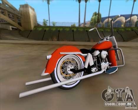 Harley-Davidson FL Duo Glide 1961 (Lowrider) para GTA San Andreas traseira esquerda vista