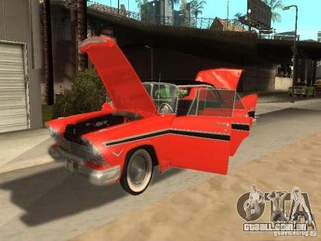 Plymouth Belvedere Sport sedan para GTA San Andreas traseira esquerda vista