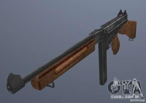 M1 Thompson para GTA San Andreas segunda tela
