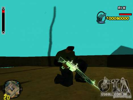 Blue weapons pack para GTA San Andreas terceira tela